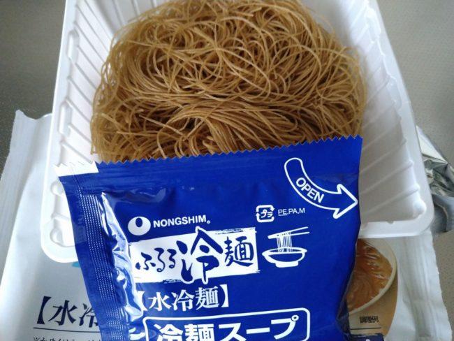 農心ふるる冷麺のパッケージ内